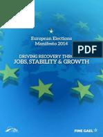 European Election Manifesto 2014