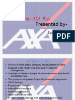 the AXA Way