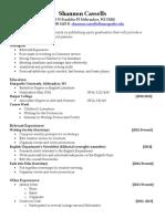 master resume 2013