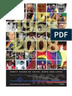 MCC 40th Anniversary Book