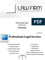 Professional Legal Services and Attorneys in Armenia