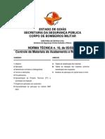 NT 10 Controle de Materiais de Acabamento e Revestimento