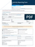 CCR Activity Reporting Form