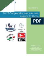 Valore primi 25 Campionati Calcio - Pluriconsultoria