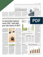 Inversión minera sería US$ 7 mil millones hasta 2017_Gestión 28-04-2014