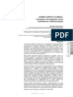 Fonseca, T. Et Al. Corpo Arte e Clínica-Variações Na Pesquisa Como Resistência e Diferenciação