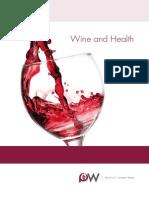 Product Board Wine brochure Wine and Health