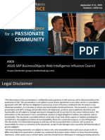 0909 ASUG SAP BusinessObjects Web Intelligence Influence Council