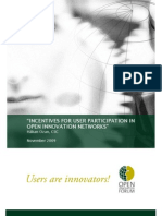 Ozan, H. (2009). Incentives for User Participation in Open Innovation Networks