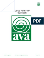 Cloud Point of Glycols