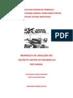 Propuesta de Creación Del Distrito Motor de Desarrollo