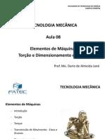 Tecnologia Mecanica Aula 8t Em Torcao e Dimensionamento de Eixos