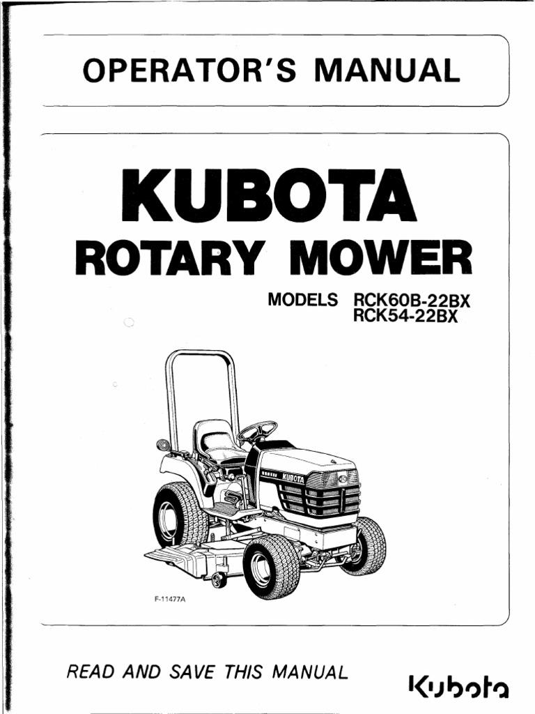 kubotarotarymowerrck 60bor54 22bx mower tractor