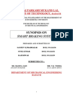 Synopsis on smart breaking system