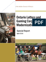 Auditor General Report on OLG Modernization Plan