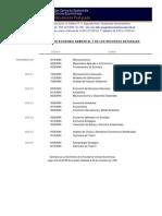 PENSUM MAESTRÍA EN ECONOMÍA AMBIENTAL Y DE LOS RECURSOS NATURALES USAC-CCEE