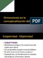 Dimensiones en La Conceptualización Del Valor