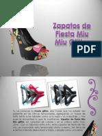 Zapatos de Fiesta Miu Miu Glitter