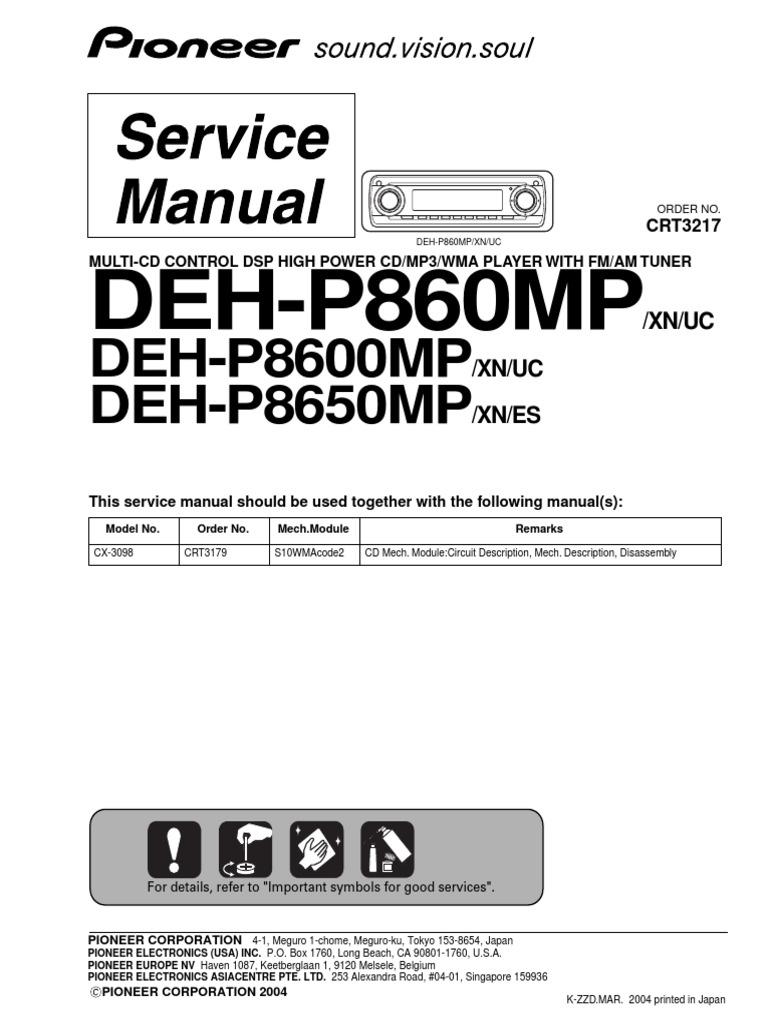 Wiring Diagram Pioneer Deh P8600mp Simple Shematics Car Stereo Schematic P860mpdeh P8600mpdeh P8650mp Sm Electrical Connector
