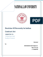 DoctrineOf Necessity in Indian Contract Act