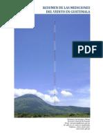 1. Resumen Mediciones Del Viento en Guatemala