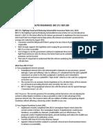 Auto Insurance l Bill 171 & Bill 189