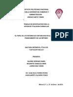 El Papel de Los Sistemas de Contabilidad en El Acceso Al Financiamiento de Las Mipymes