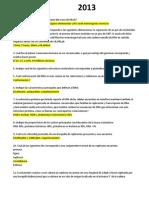 Parcial I 2013 Biología Molecular