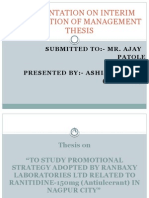 Management Thesis ppt on Ranbaxy Pharma
