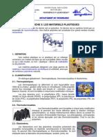 FICHE 3 - LES MATÉRIELS PLASTIQUES