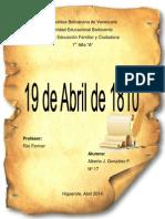 19 de abril-100,ºº