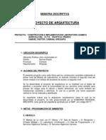 Microsoft Word - Memoria Descriptiva de Arquitectura Proyect