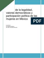 Cultura de La Legalidad Valores Democraticos y Participacion Politica de Las Mujeres en México - Copia