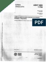 ABNT 11678 Aditivos Quimicos