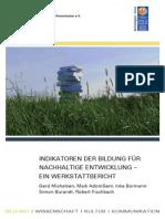 UNESO Indikatoren Der Bildung Für Nachhaltige Entwicklung – Ein Werkstattbericht 2011