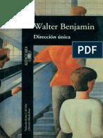 Walter Benjamin PDF Direccion Unica