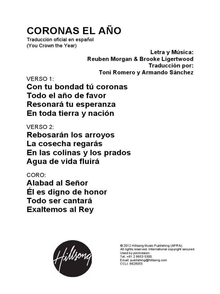 You Crown The Year Spanish Official Translation