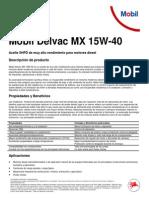Mobil Delvac MX 15W-40 Ficha Tecnica