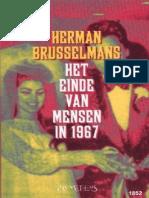 Het Einde Van Mensen in 1967 - Herman Brusselmans