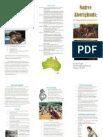 native aboriginal pamphlete
