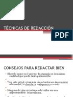 TÉCNICAS DE REDACCIÓN