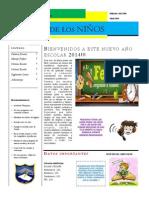 Periodico Escolar MODELO Abril