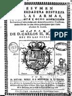 1675 - Miguel Pérez de Mendoza y Quixada - Resumen de La Verdadera Destreza en 38 Aserciones