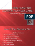 marketing plan for learn n play day