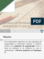 Aula 4.1 - Introdução à Linguagem de Programação C