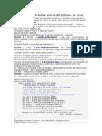Como Obtener La Fecha Actual Del Sistema en Java