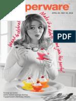 Tupperware's May Birthday Weeks Flyer 2014