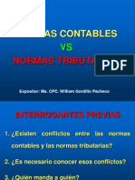 Normas Contables vs. Normas Tributarias