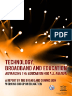 UNESCO u ITU Technology Broadband and Education Advancing the Education for All Agenda 2013