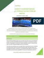 Jogyarta Consultative Forum Notes